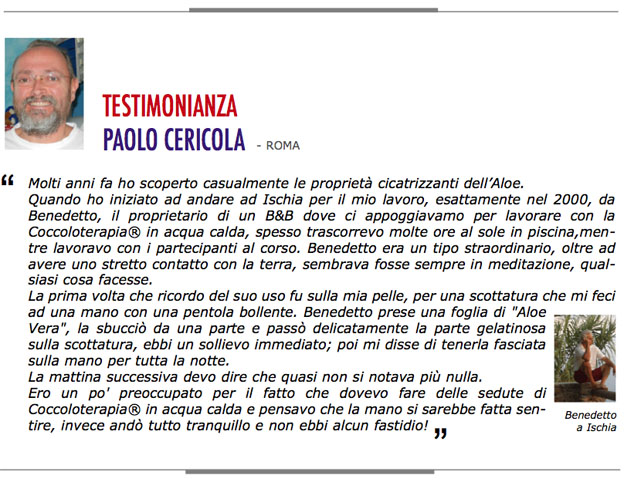 testimonianza aloe Paolo